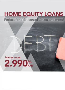 Image announcing using a home equity loan for debt consolidation