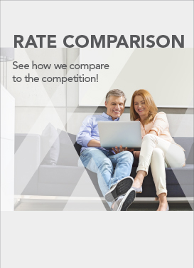 Image suggesting user see how F&A compares to  the competition regarding rates